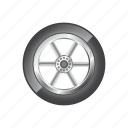 automotive, road, round, rubber, transportation, vehicle, wheel icon