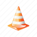 automotive, cone, orange, plastic, sign, traffic icon