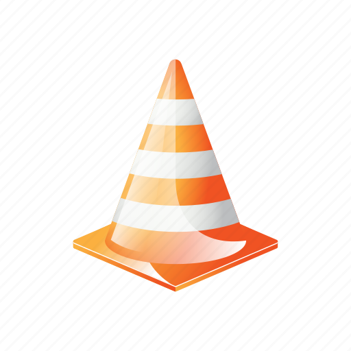 automotive, cone, orange, plastic, sign, traffic icon