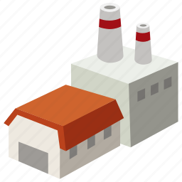 building, factory, industrial, manufacturing, mill, plant, production icon