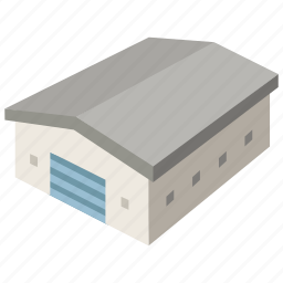 building, commercial, garage, storage, storehouse, warehouse icon