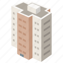 apartment, block, building, complex, flats, housing icon