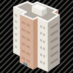 apartment, block, building, complex, flats, housing icon