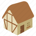 building, cabin, chalet, cottage, house, thatched icon