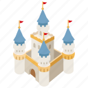 princess, tale, fantasy, fairy, castle, fortress, citadel icon