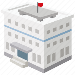 bank, building, elementary, government, high, office, school icon