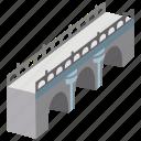 aqueduct, arched, arches, architecture, bridge, structure icon