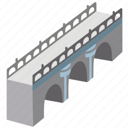 aqueduct, arched, arches, architecture, bridge, structure icon