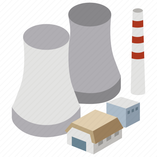 coal, energy, generating, nuclear, plant, power plant, station icon