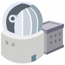 astronomy, building, dome, observatory, telescope icon