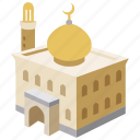 building, islam, mosque, muslim, religious, temple, worship icon