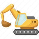 construction, excavator, navvy, project icon