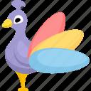 animal, animals, bird, nature, peafowl icon