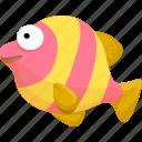cartoon fish, fish, halobios, marine organism, sea icon