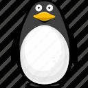 cartoon fish, cartoon penguin, fish, halobios, marine organism, penguin, sea icon