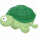 cartoon fish, cartoon turtletortoise, fish, halobios, marine organism, sea, turtletortoise icon