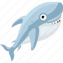 cartoon fish, cartoon shark, fish, halobios, marine organism, sea, shark icon