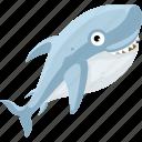 cartoon fish, cartoon shark, fish, halobios, marine organism, sea, shark icon