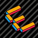 3d e, alphabet, e, font, letter, text icon