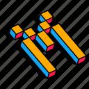 3d m, alphabet, font, letter, m, text