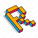 3d r, alphabet, font, letter, r, text icon