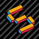 3d s, alphabet, font, letter, s, text