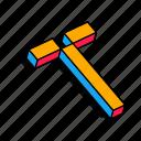3d t, alphabet, font, letter, t, text icon