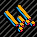 3d w, alphabet, font, letter, text, w icon