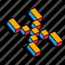 3d x, alphabet, font, letter, text, x