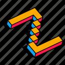 3d z, alphabet, font, letter, text, z