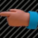 fingrer, point, direction, pdd, left, hand, gesture