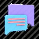 message, messaging, conversation, chat, communication, bubble icon