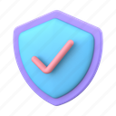 shield, check, protection, security, secure icon
