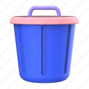 trashbin, trash, bin, delete, remove, recycle, garbage