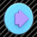 arrow, right, circle, direction, navigation