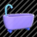 bath, bathtub, shower, bathroom, wash