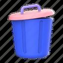 bin, trashbin, trash, delete, recycle, remove