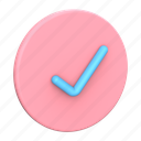 checkmark, blue, and, pink, check, ok, accept