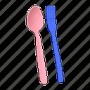 fork, spoon, cutlery, eating, utensil