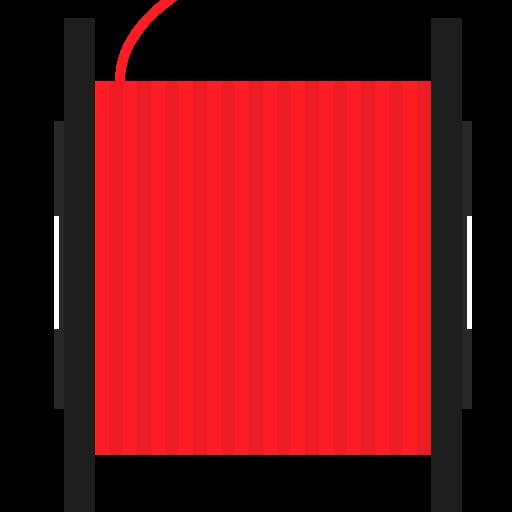 3d print, filament, red, spool icon