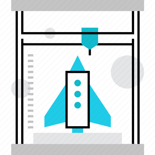 3d, device, dimensional, manufacturing, mockup, printer, replicator, reprap, reproduction, technology icon
