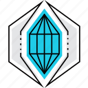 crystal, cutting, diamond, ideal, magic, object, perfection icon