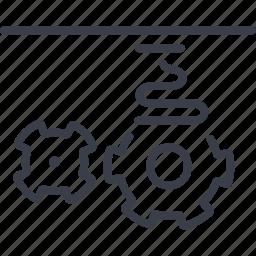 idea, mechanism, printer, product icon