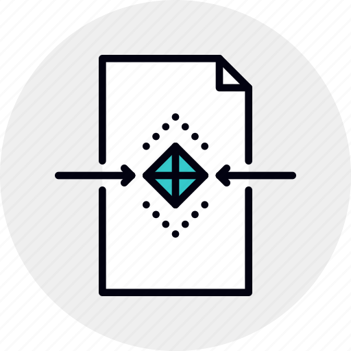 3d, document, file, object, processing icon