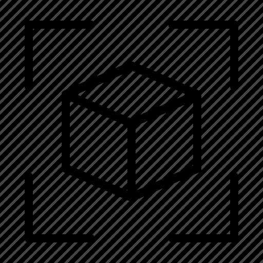 cube, dimensions, size icon