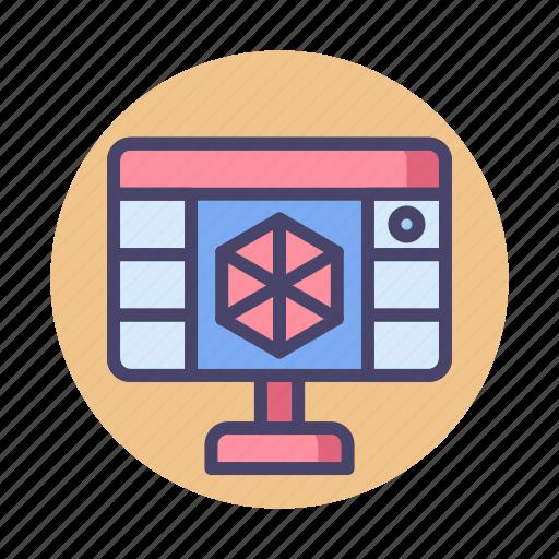 3d, 3d programming, 3d software, programming icon