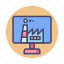 digital, digital factory, factory icon