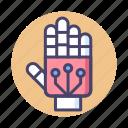 exoskeleton, hand, robot hand icon