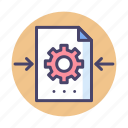 file, file processing, processing icon