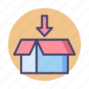 box, package, packaging, parcel icon